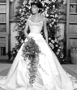 victoria beckham wedding gown most iconic wedding gowns