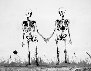 make relationship lasts skeleton couple