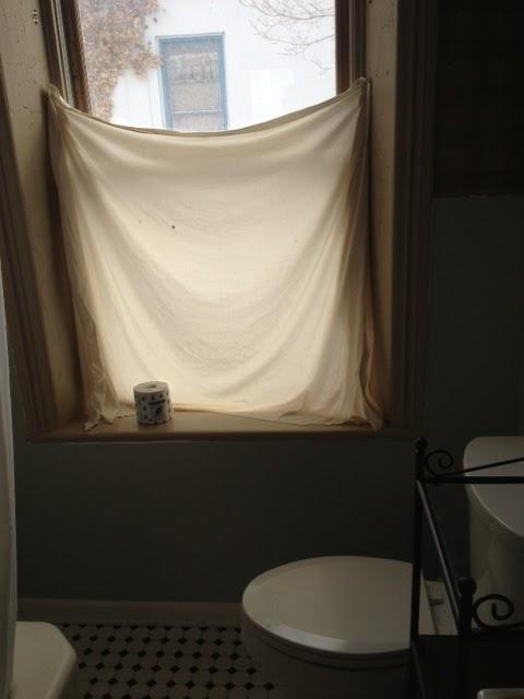 bathroom curtain old