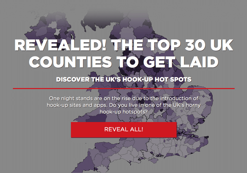 The top 30 uk counties to get laid